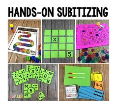 Hands-on & engaging math activties that promote number sense. Perfect for Kindergarten and First Grade math centers & small group activities!
