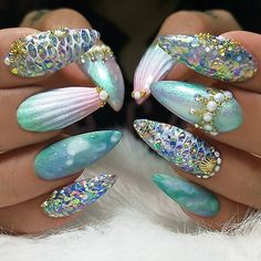 """2,245 Me gusta, 16 comentarios - NAIL INSPO (@theglitternail) en Instagram: """"✨ : Picture and Nail Design by •• @kristinaskustomnails •• Follow @kristinaskustomnails for…"""""""