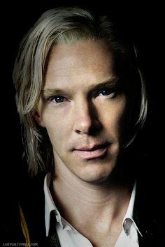 "Benedict Cumberbatch as Julian Assange in ""The Fifth Estate"""