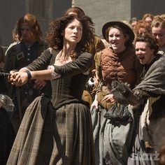 """Claire being drug off to the witch trials.  """"The Devil's Mark"""""""