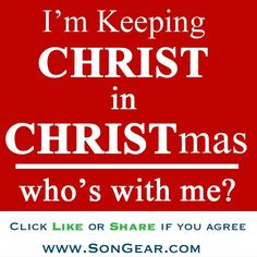 Because He is the reason for the season. Please Do not replace Christ with X-mas,it's like deleting Christ from his own Birthday. Merry Christmas to all.  :)