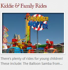 We always offer kiddie & family friendly rides.