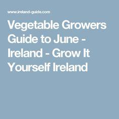 Vegetable Growers Guide to June - Ireland - Grow It Yourself Ireland