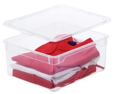 Rotho 3342094094 2-er Set Clear Sweater 18 l, Aufbewahrungsbox mit Deckel, QR-Code AppMyBox, transparent, stapelbar, Kunststoff/Plastik (PP): Amazon.de: Küche & Haushalt Storage Boxes, Container, Ebay, Smartphone, Material, Products, Pullover, Little Boxes, Shoe Box