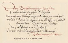 Hermann Zapf - Quotation from Rudolf Koch, page from the third sketchbook, 1944.