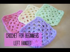 LEFT HANDED CROCHET: How to crochet a granny square for beginners, Bella Coco, My Crafts and DIY