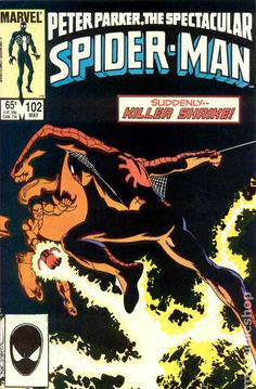 Spectacular Spider-Man (1976 1st Series) 102 Marvel Comics Peter Parker Comic book covers Super Heroes Villians Amazing Astonishing silver bronze modern age