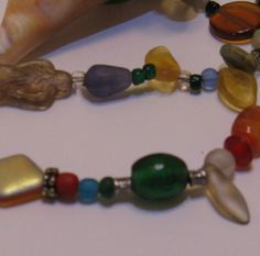 Multicolor Glass Bead Necklace by artsybaaabs on Etsy, $30.00