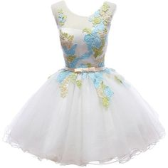 Shixi Marriage Little Girl's Short Homecoming Dress White Size US 16 ($55) ❤ liked on Polyvore featuring dresses