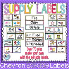 Labels for classroom use $