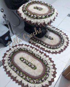 Crochet Earrings, Rugs, Beautiful, Decor, Bathroom Mat, Christmas Bathroom, Crochet Rug Patterns, Baroque, Centre