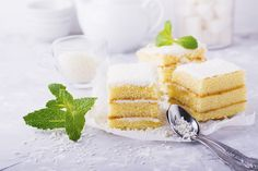kokuszos-suti Vanilla Cake, Food, Cream, Essen, Yemek, Meals