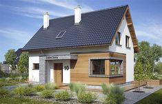 Zdjęcie projektu Malina WRP1476 House Made, My House, Best Tiny House, Attic Rooms, Terrazzo, Home Projects, House Plans, Pergola, Shed