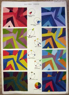 Цветовые гармонии Composition Art, Art Worksheets, School Art Projects, Elements Of Art, Art Lesson Plans, Art Classroom, Art Plastique, Art Activities, Teaching Art