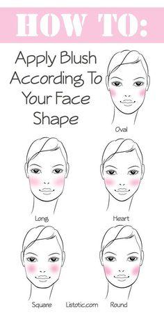 Maquillage teint: application du blush en fonction de la morphologie.
