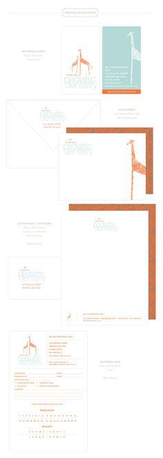 Emily McCarthy Branding Design   Newton Pediatric Dentistry Printed Materials