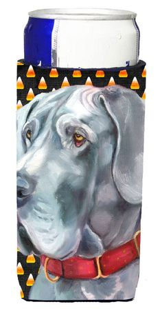 Great Dane Candy Corn Halloween Ultra Beverage Insulators for slim cans LH9549MUK