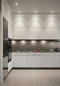Modern Kitchen Design, Kitchen Interior, Kitchen Cabinets, Room, Kitchen Extensions, Home Decor, Bedroom, Decoration Home, Room Decor