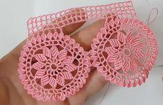 Crochet Edging Patterns, Crochet Borders, Baby Knitting Patterns, Crochet Art, Filet Crochet, Crochet Doilies, Cross Stitch Art, Crochet Earrings, Dresses