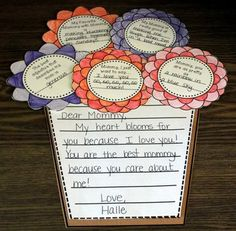 Mothers Day - My Heart Blooms for Mom {a Craftivity}