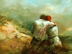 91146-peinture-dun-couple-enlace-dans-les-dunes.jpg (800×603)