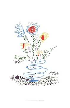 Summer Bouquet Poster Print by Pablo Picasso Floral Art Flower Modern by Era Century Decorating Ideas Bouquet Scandinavian Style Picasso Prints, Picasso Art, Picasso Paintings, Picasso Tattoo, Pablo Picasso Drawings, Picasso Sketches, Picasso Flowers, Matisse, Joan Miro