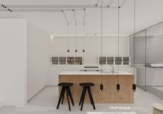 Minosa Design: White Kitchens can be interesting