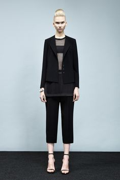The tailored look and sleek cutting with a peek of sport-luxe of Robert Rodriguez S/S 2014 on NYFW
