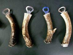Deer antler bottle openers