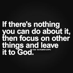Leave everything on god...
