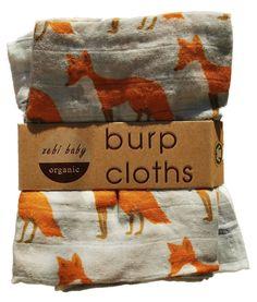 http://Amazon.com: Milk Barn Organic Burp Cloths, 2 Pack, Hummingbird and Rose Goose: Clothing