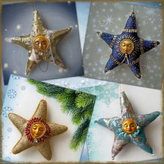 Christmas Star, Christmas Tree Ornaments, Christmas Decorations, Holiday Decor, Christmas Interiors, Foto Art, Stars, Handmade, Home Decor