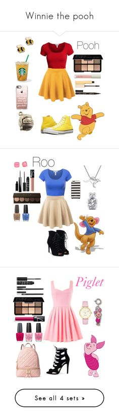 """""""Winnie the pooh"""" by crystalgems125 ❤ liked on Polyvore featuring Converse, LE3NO, Smashbox, Ilia, Stila, Smith & Cult, Casetify, Givenchy, NARS Cosmetics and JustFab"""