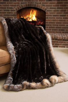 Now THAT is a luxury blanket. Winter Palace Sheared Beaver Fur Blanket x 88 King) Winter Blankets, Cozy Blankets, Faux Fur Bedding, Fur Blanket, Manta Crochet, Faux Fur Throw, Velvet Cushions, Luxurious Bedrooms, Luxury Living