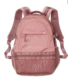 Victoria's Secret PINK Campus Backpack Collegiate Book Bag New for Women Mochila Victoria Secret, Victoria Secret Rucksack, Victoria Secret Taschen, Rosa Victoria Secret, Red Backpack, Rucksack Bag, Backpack Bags, Black And White Backpacks, Black And White Bags