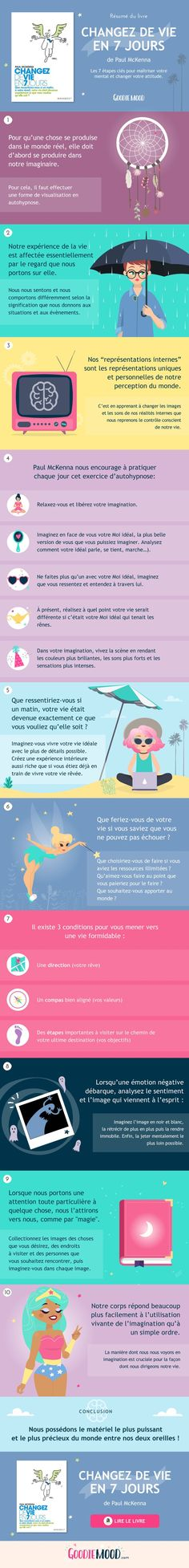 "résumé de ""changez de vie en 7 jours"" de paul mckenna - Tap the link now to Learn how I made it to 1 million in sales in 5 months with e-commerce! I'll give you the 3 advertising phases I did to make it for FRE Positive Mind, Positive Attitude, Paul Mckenna, Miracle Morning, Daily Meditation, I Feel Good, Good Mood, Self Development, Personal Development"