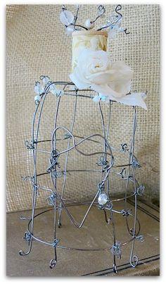 wire bird cage/cloche