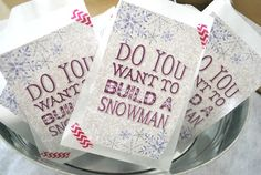 Fun favors at a Frozen Birthday Party! See more party ideas at CatchMyParty.com!