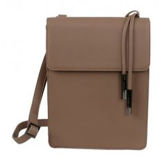 Flap Over Cross Body Bag - Taupe  from the Milan collection