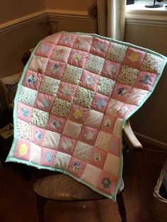 A personal favourite from my Etsy shop https://www.etsy.com/uk/listing/484449275/laura-ashley-quilt-baby-shower-gift