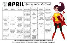 The April Fit Bottomed Challenge is ON! Spring into action with some superfoods and find your own inner superhero this week! #FBGChallenge