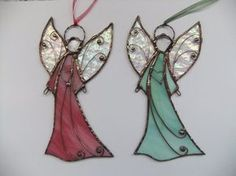 Stained Glass Angel. Hanging Angel. Tiffany style. Guardian angel. Confirmation gift. Chritmas ornaments.