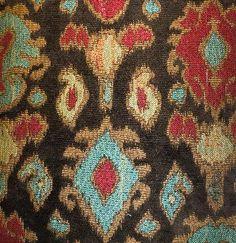 Kinnison Chocolate - Beautiful Southwestern Print Ikat Fabric.