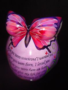 I love this one! Love the Bible verse.. maybe one with a yellow background and blue and green butterfly