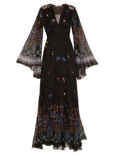 Flower-print embroidered gown   Etro   MATCHESFASHION.COM US