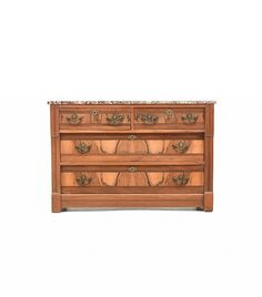 Victoria Walnut Chest With Marble Top