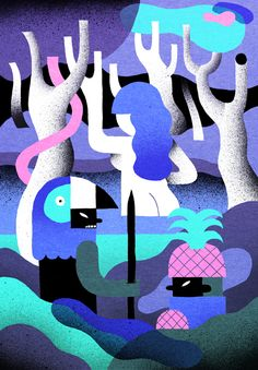 A Colourful Illustrated World Created by Levi Jacobs