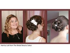 centre hairstyle for bridesmaid