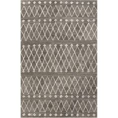 Check out the Jaipur RUG1 Riad Hand-Tufted Durable Wool Gray/Ivory Area Rug priced at $124.00 at Homeclick.com.
