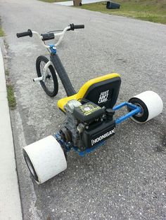 We build gas powered, rear-wheel drive drift trikes capable of supporting weights in excess of 450lbs and a top speed of 30 mph.